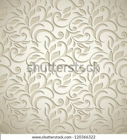Stylish luxury wedding floral background stylized like lace-textile - stock vector