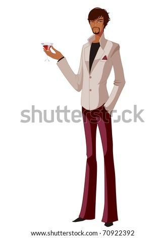 stylish man - stock vector