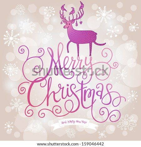 stylish merry christmas card modern violet stock vector royalty