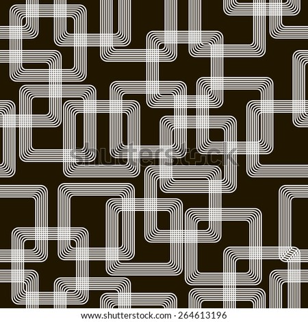 Stylish modern black and white seamless pattern associated with the metal tracks on a printed circuit board