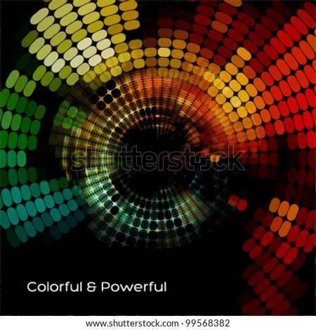 stylish mosaic background design - stock vector