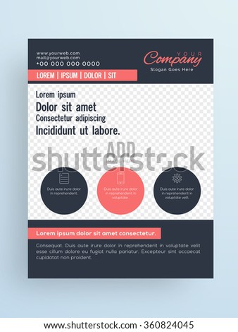 stylish one page flyer banner brochure stock vector 360824045 shutterstock
