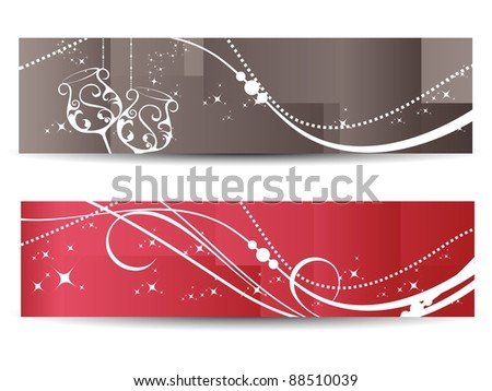stylish pattern new year banner, - stock vector