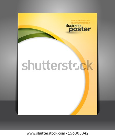 Stylish presentation of business poster. Flyer design content background. Design layout template  - stock vector