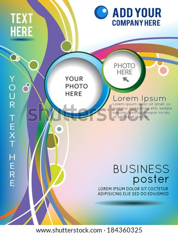 stylish presentation business poster magazine cover stock vector hd