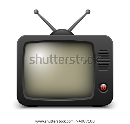 Stylish retro TV set icon. Vector illustration - stock vector