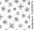 Stylish seamless snowflake pattern - stock vector