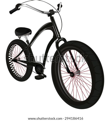 Stylish sporty men's bicycle