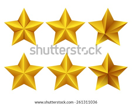 Stylish Star Icons - stock vector