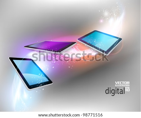 stylish tablet with digital flare design