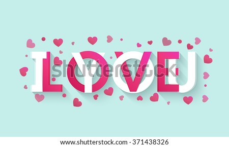 Stylish text I Love You on pink hearts decorated background for Happy Valentine's Day celebration. - stock vector