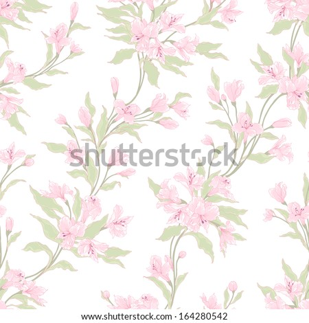 Stylish vintage floral seamless pattern. - stock vector