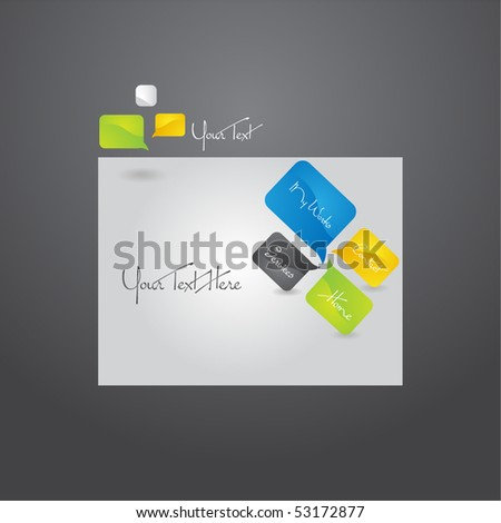 Stylish Website design template, vector. - stock vector