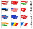 Stylish World flags. Vector - stock vector