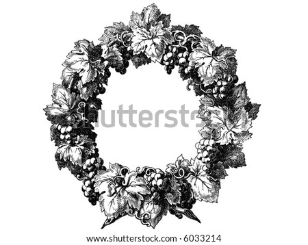 Stylization of an ancient engraving of an epoch of a baroque - stock vector