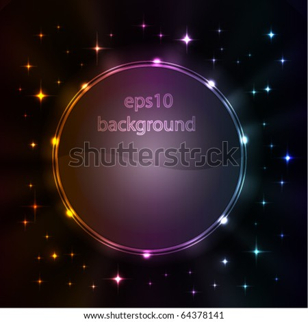Stylized abstract background with glowing elements - stock vector