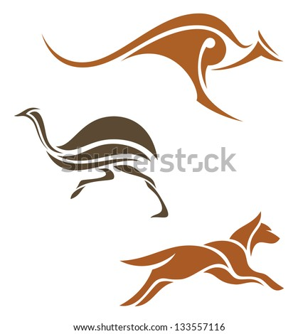 Stylized animals - stock vector