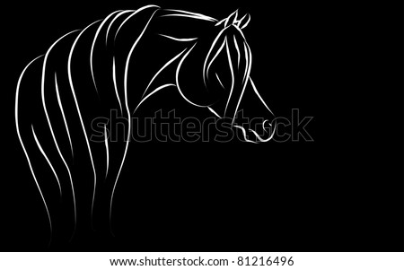 Stylized Arabian (black background) Vector Illustration - stock vector