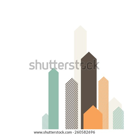 Stylized Arrows to Up. For Cover Book, Brochure, Annual Report etc. - stock vector
