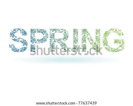 stylized bright floral element on white background