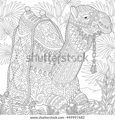 Coloring Page Young Emperor Penguins Polar Stock Vector 696049066