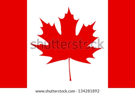 Stylized Canadian flag. EPS10 vector illustration. - stock vector