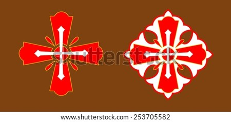 Stylized christian cross. Illustration isolated on background - stock vector