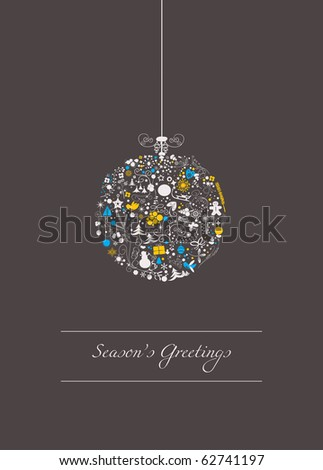 Stylized christmas ball - stock vector