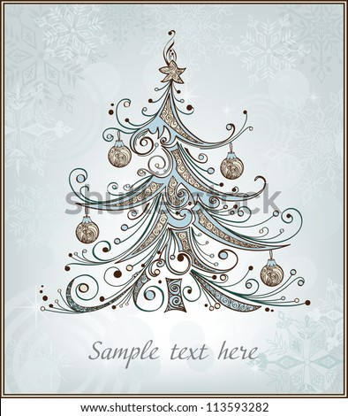 Stylized christmas tree - stock vector