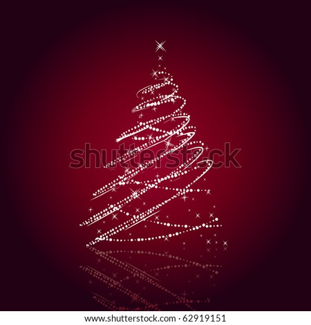 Stylized christmas tree - stock vector