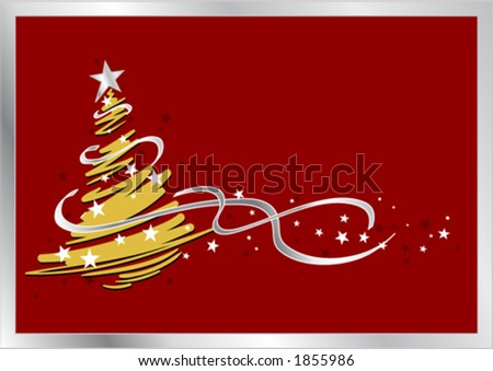 Stylized christmas tree design - stock vector