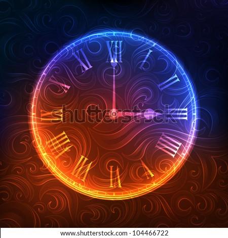 Stylized clock. eps10 - stock vector
