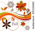 Stylized collage of fall season - stock vector