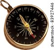 Stylized compass - stock vector