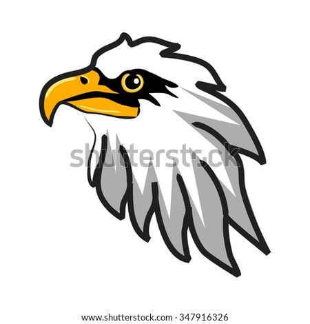 stylized eagle on white background
