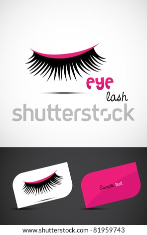 Stylized eye-lash icon such logo, EPS10 vector.
