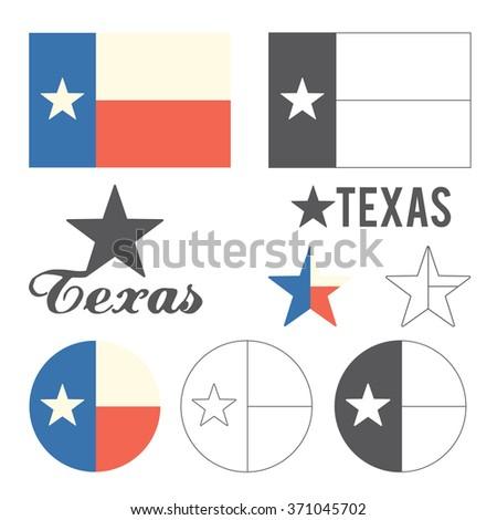 Stylized Flag of Texas - stock vector