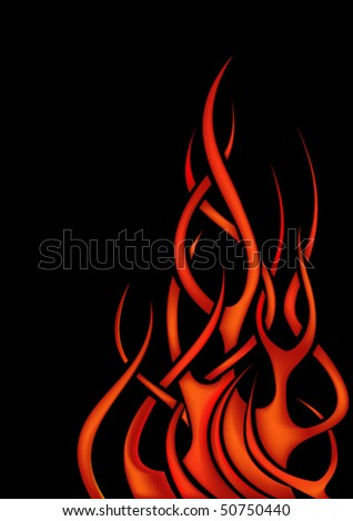 Stylized flame. Gradient mesh. - stock vector