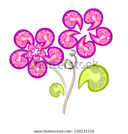 stylized flowers - stock vector