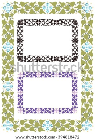 Stylized frame inspired by ancient Mediterranean decorative accents - stock vector