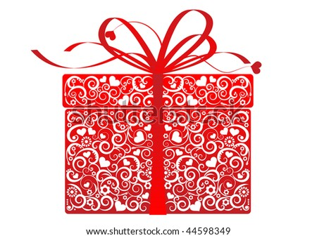 Stylized gift - vector