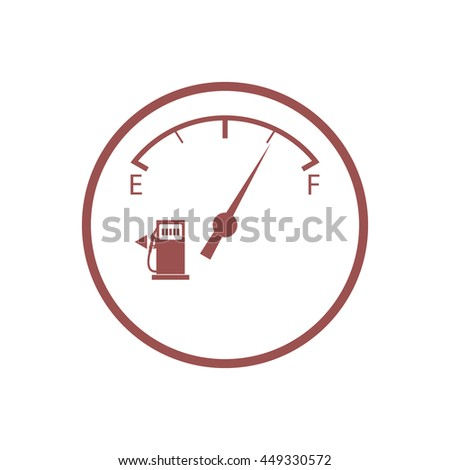 Stylized icon of an automobile fuel sensor on a white background