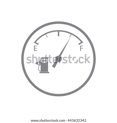 Stylized icon of the automobile fuel sensor on a white background