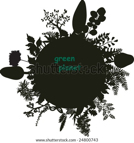 stylized luxuriant planet - stock vector