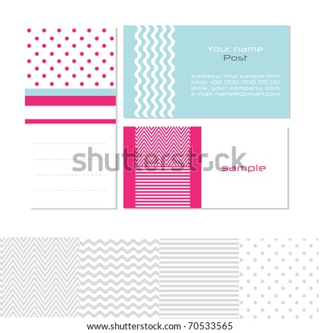 Stylized modern business cards, vector. EPS10 Check portfolio for more. - stock vector