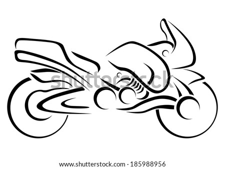 Stylized Motorcycle Vector Illustration - stock vector