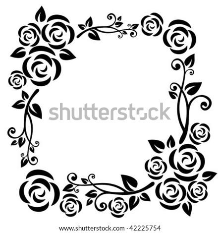 Black+white+roses+frame