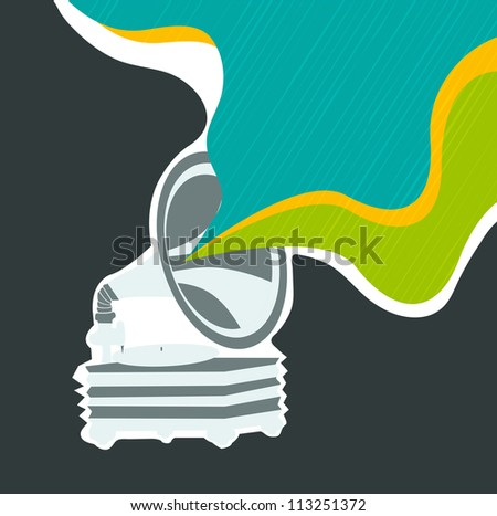 Stylized retro musical background. - stock vector