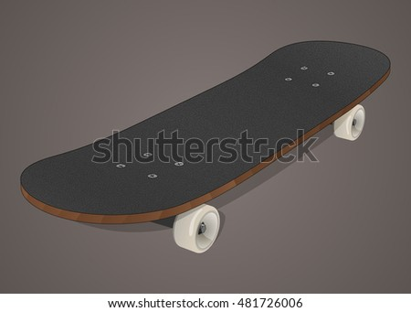 Stylized skateboard illustration