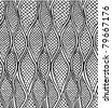 Stylized snake skin. Seamless pattern - stock vector